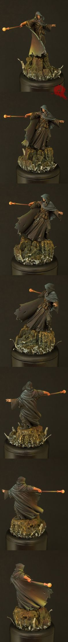Nocturna Models -The Sorcerer boxart V Painted by Javier Gonzalez aka Arsies Warhammer Fantasy, Fantasy Rpg, Warhammer 40k, Fantasy Inspiration, Painting Inspiration, Tabletop, Fantasy Miniatures, Mini Paintings, Figure Model