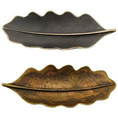 Pair of Brass Leaves by Carl Auböck, Austria, 1950s | From a unique collection of antique and modern desk accessories at https://www.1stdibs.com/furniture/decorative-objects/desk-accessories/