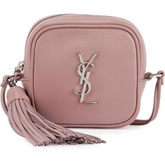Saint Laurent Monogram Toy Camera Shoulder Bag ($995) ❤ liked on Polyvore featuring bags, handbags, shoulder bags, сумки, dusty pink, handbags shoulder bags, man shoulder bag, handbags purses, brown hand bags and brown shoulder bag