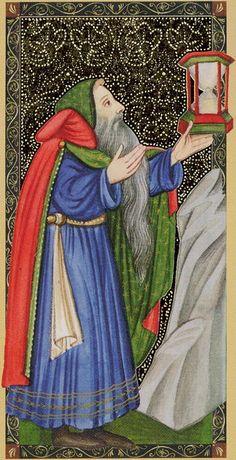 IX - L'ermite - Golden Tarot of Renaissance par Giordano Berti & Jo Dworkin