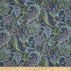 Designed by Rosemarie Lavin Design for Windham Fabrics, this soft, double napped (brushed on both sides) flannel fabric is perfect for quilting, apparel and home décor accents. Colors include navy, green, pink, blue, yellow, and shades of purple.
