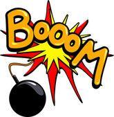 Booom! — Vetorial Stock