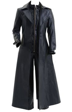 Long Leather Coat, Leather Trench Coat, Mens Long Coat, Leather Jackets, Men's Leather, Trench Coat Outfit, Black Coat Outfit, Cool Coats, Leder Outfits