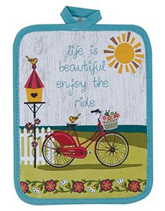 Kay Dee Designs R3202 Enjoy the Ride Bicycle Potholder * Read more reviews of the product by visiting the link on the image.