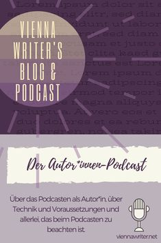 Audio first & Algorithmen Crossover, Pfaff, Audio, Self Publishing, Lorem Ipsum, Lonely, Blog, Writer, Movie Posters