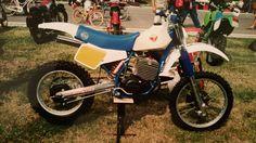 Moto Villa 495 1985 bianca e blu