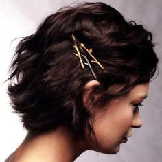 twig hair pins...hehe...I feel like people would pull these out of my hair!