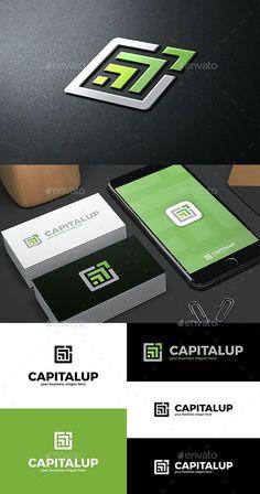 Abstract Green Arrows Logo Template Vector EPS, AI