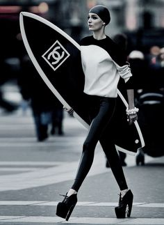 Chanel <3.  I'd place the surfboard in my office just because!!!!!