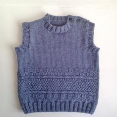 Items similar to SALE Hand knit baby vest / baby gift / boy vest /pure wool baby vest/ready to ship size months on Etsy