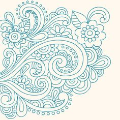 Henna Tattoo Paisley Doodle Vector Royalty Free Stock Vector Art Illustration Thats just beautiful Paisley Doodle, Paisley Drawing, Doodle Drawings, Doodle Art, Henna Doodle, Quilled Creations, Doodles Zentangles, Free Motion Quilting, Machine Quilting