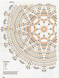 Kira scheme crochet: Scheme crochet no. Photo from album Motif Mandala Crochet, Crochet Doily Diagram, Crochet Circles, Crochet Doily Patterns, Crochet Chart, Crochet Squares, Crochet Designs, Crochet Round, Crochet Dollies