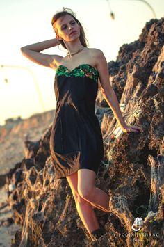 Fashion Designer: Pooja Jeshang  Photographer: Dharmit Laxman - Vclick Concepts Inc.  Model: Elena Gallenca  Jewellery: Silver Curio Shop, Ltd - Tanzania