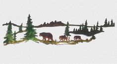 Excited to share this item from my #etsy shop: Bear And Cubs Indoor & Outdoor Plasma Cut Metal Wildlife Wall Art Outdoor Metal Wall Art, Metal Tree Wall Art, Metal Art, Mountain Cabin Decor, Mountain Homes, Mountain Cabins, 11 Year Anniversary, Deer Family, Bear Cubs