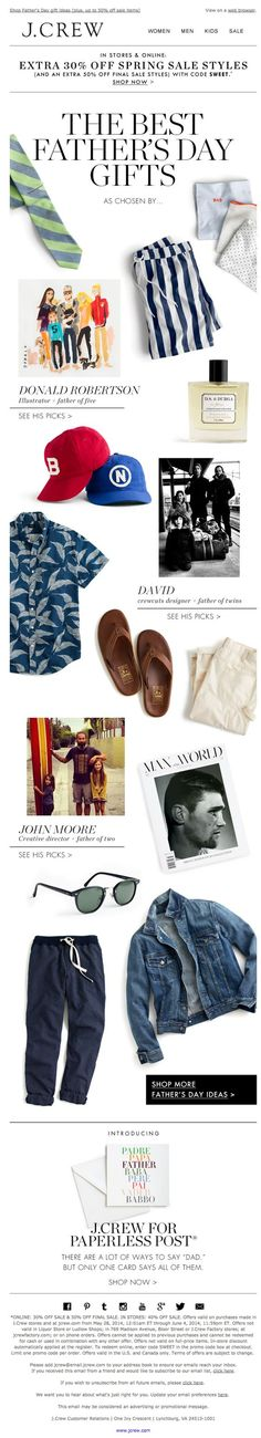 Father's Day from J.Crew