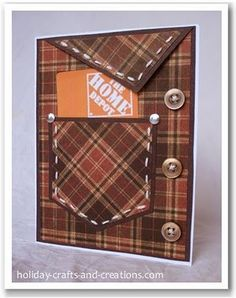 Father's Day gift certificate holder