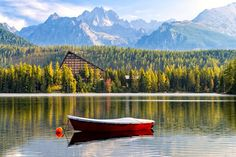 Visit Štrbské Pleso lake, the High Tatras High Tatras, Eastern Europe, All Over The World, National Parks, Places To Visit, Journey, Cabin, Mountains, Waterfalls