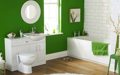 Small Bathroom Paint Colors Within Comfy Green And White Bathroom Color Schemes 6347 - Small Room Decorating Ideas Green Bathroom Accessories, Green Bathroom Decor, Brown Bathroom, Bathroom Interior, Bathroom Ideas, Bathroom Wall, Chevron Bathroom, Mint Bathroom, Bathroom Furniture