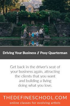 Driving Your Business | Posy Quarterman | http://www.thedefineschool.com/learn/driving-your-business/