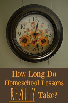 A guide to how long homeschool subjects take to complete - you might be shocked! | RaisingArrows.net