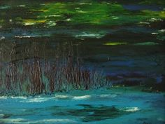 "Angie Alexieff, ""Night"" 2006, 14""x18"" oil - sold"