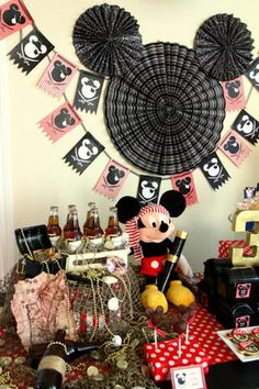Mickey Mouse Pirate Boy Disney Themed Birthday Party Planning Ideas