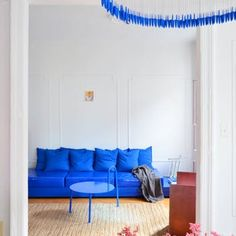 House Tour: Harry Nuriev's Blue Brooklyn Apartment | Apartment Therapy