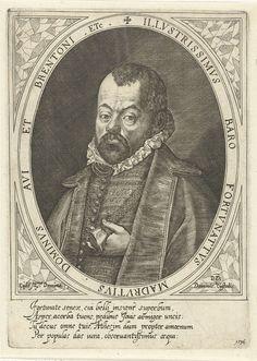 Dominicus Custos   Portret van baron Fortunatus van Madrutz, Dominicus Custos, 1596  