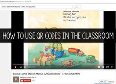 QR Code Listening Center in Preschool
