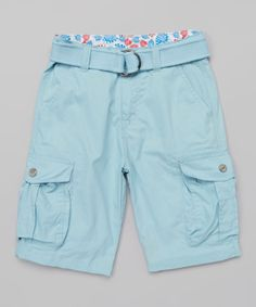 Look at this Camp & Campus Blue Snap Pocket Cargo Shorts - Boys on #zulily today!