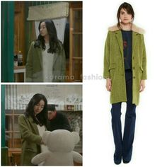 """272 lượt thích, 6 bình luận - @kdrama_fashion trên Instagram: """"Soo Ae wore ESSENTIEL ANTWERP Removable Collar Coat _ Green €445 in Sweet Stranger and Me Drama…"""" Sweet Stranger And Me, Green Coat, Kdrama, Military Jacket, Duster Coat, How To Wear, Jackets, House, Instagram"""