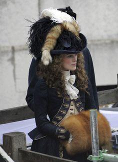 Keira Knightley's Blue Fox Uniform in 'The Duchess', 2008. Late 18th Century Georgian #CostumeDesign by Michael O'Connor.