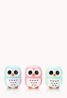 Owl-Shaped Flavored Lip Balm Trio | FOREVER21 - 1000091218love it