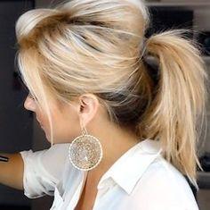 Peinado perfecto para el cabellos sucio: Cola de caballo