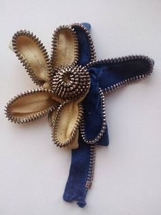 ..zipsový kvet.. Job 3, Ale, Brooch, Jewelry, Fashion, Brooch Pin, Jewlery, Moda, Jewels