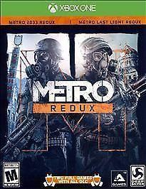 MICROSOFT XBOX X-BOX ONE METRO REDUX VIDEO GAME METRO 2033 & LAST LIGHT FREESHIP