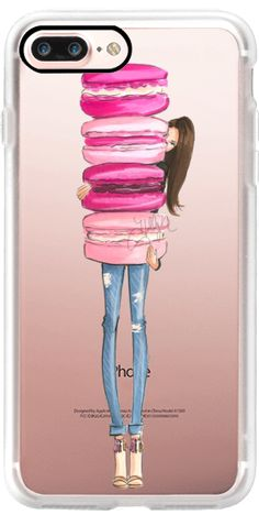 Casetify iPhone 7 Plus Case and other Pink iPhone Covers - Macaron Overload by Nichols Illustration | Casetify