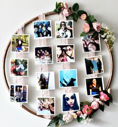 How To Make A DIY Floral Photo Hoop Our Crafty Mom. Let me show you an inexpensive and easy way of How To Make A DIY Floral Photo Hoop. This is perfect for parties of any kind, from first birthdays, to Weddings or, in this case, Graduations! Diy Birthday Decorations, Graduation Decorations, Wedding Decorations, Handmade Decorations, Diy Wall Decor, Decor Crafts, Photo Frame Crafts, Photo Frames Diy, Photo Frame Ideas