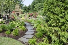 Bluestone Path  Walkway and Path  Rice's Nursery & Landscaping  North Canton, OH