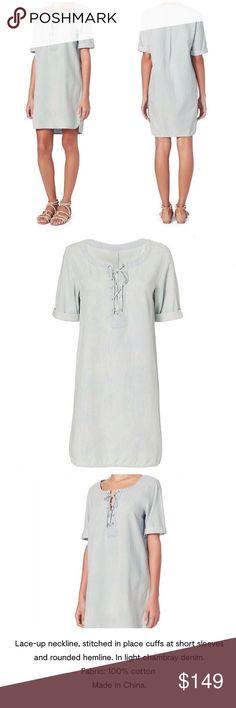 Rag & Bone Lace-Up Denim Dress - Small Rag & Bone Lace-Up Denim Dress - Small rag & bone Pants Jumpsuits & Rompers