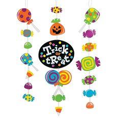 "Halloween ""Trick Or Treat"" Hanging Décor - OrientalTrading.com"