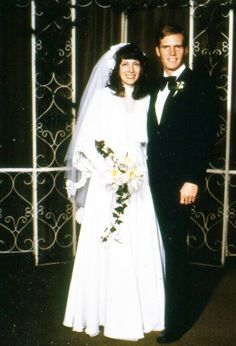 and Bryan Wedding. 1970s Wedding, Vintage Wedding Photos, Vintage Bridal, Wedding Couples, Wedding Pictures, Wedding Attire, Wedding Gowns, Retro Weddings, Fairytale Gown