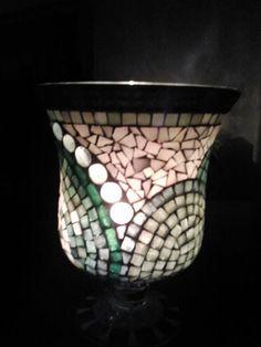 Vase aus Glas beleuchtet