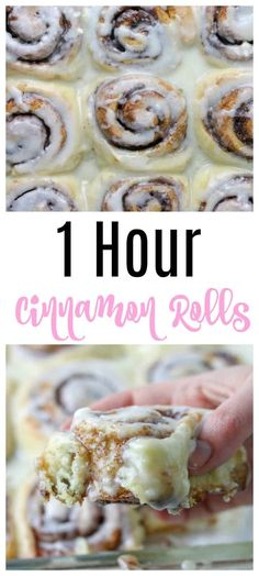 1 Hour Cinnamon Rolls Recipe - These Homemade Cinnabon Cinnamon Rolls Are Quick To Make, And The Perfect Breakfast Or Brunch Treat For Easter, Mother's Day Or Any Sunday With Brown Sugar, Cinnamon, And A Cream Cheese Icing Slathered On Top. 1 Hour Cinnamon Rolls Recipe, Cinnabon Cinnamon Rolls, Pioneer Woman Cinnamon Rolls, Quick Cinnamon Rolls, Pillsbury Cinnamon Rolls, Cinnamon Roll Recipes, Biscuit Cinnamon Rolls, Cinnamon Rolls From Scratch, Kitchen