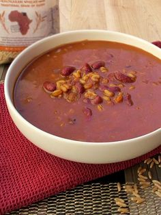 Red Bean and Kamut® brand khorasan wheat soup courtesy of Bob's Red Mill.