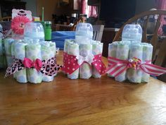 baby shower - table centerpieces