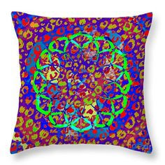 Abstract Throw Pillow featuring the digital art Footsteps by Caroline Gilmore
