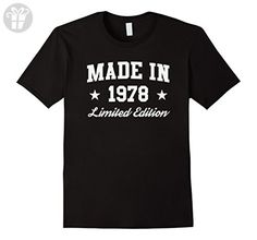 Men's Made in 1978 Limited Edition - Birthday Gift T-shirt XL Black - Birthday shirts (*Amazon Partner-Link)