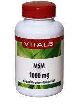 Vitals MSM Zwavel 1000mg 120 TAB - De huidige voeding bevat veel minder zwavel dan voorheen het geval was. Vitals levert MSM in de zuiverste vorm en in een hoge dosering. Zwavel wordt vooral in eiwitrijke weefsels aangetroffen. Het is onder andere een bestanddeel van bindweefsel, rode bloedcellen, spieren, huid, haar en nagels en van de zwavelhoudende aminozuren methionine en cyste�ne. Zwavel geeft deze weefsels vorm en stevigheid. Zwavelbruggen zijn belangrijk voor de ruimtelijke structuur…