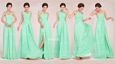 mint bridesmaid dresses long bridesmaid dresses by okbridal, $126.00